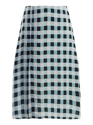 WALES BONNER checked midi skirt