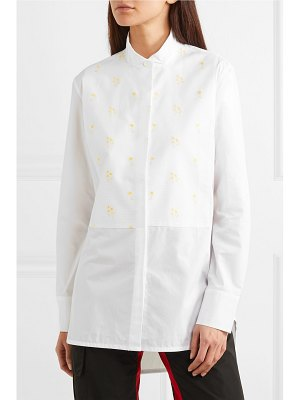 WALES BONNER embroidered cotton-poplin shirt