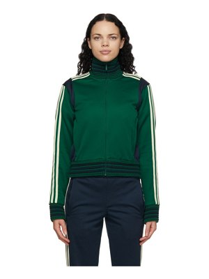 WALES BONNER green and navy adidas originals edition lovers track jacket