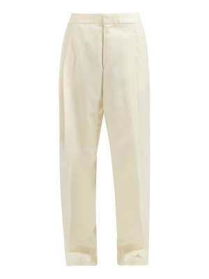 WALES BONNER satin-panel wool-twill trousers