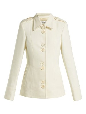 WALES BONNER silk and wool-blend military jacket
