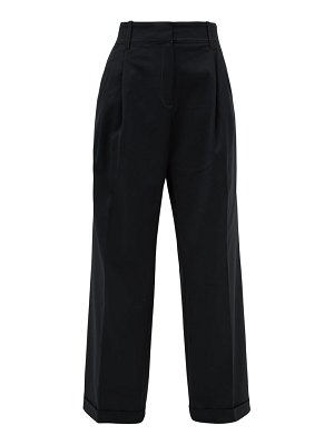 WALES BONNER tailored cotton-blend twill wide-leg trousers