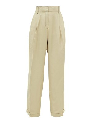 WALES BONNER wide-leg tailored canvas trousers