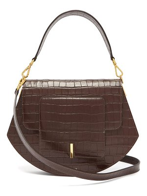 WANDLER al crocodile effect leather cross body bag