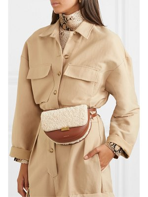WANDLER anna leather and shearling belt bag