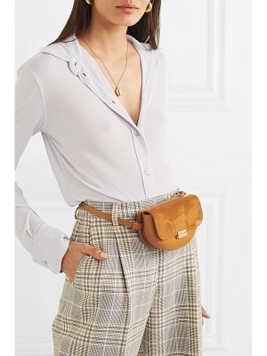 WANDLER anna small leather and suede belt bag