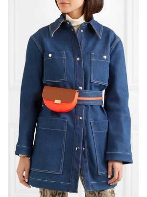 WANDLER anna small two-tone neon leather belt bag