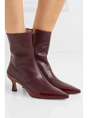 WANDLER bente glossed and patent-leather ankle boots