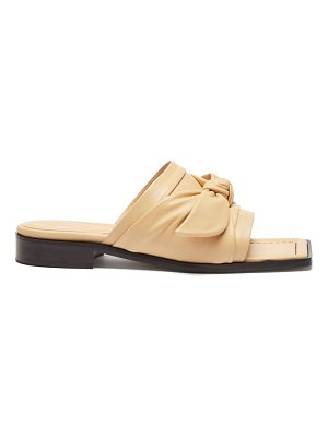 WANDLER bow-strap leather slides