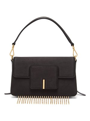 WANDLER georgia crystal-fringed satin bag