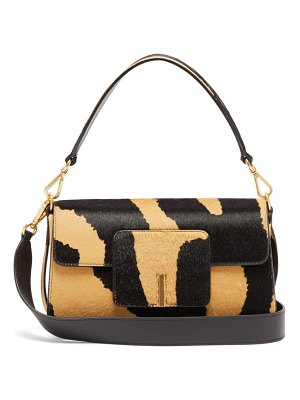 WANDLER georgia zebra print calf hair shoulder bag