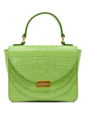 WANDLER green croc mini luna bag
