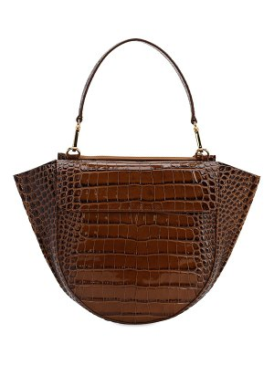 WANDLER Hortensia croc embossed leather bag