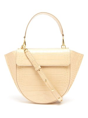 WANDLER hortensia crocodile effect leather bag