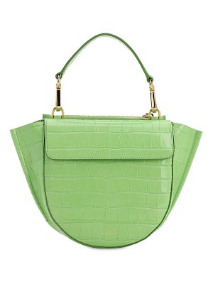 WANDLER Hortensia mini croc embossed leather bag
