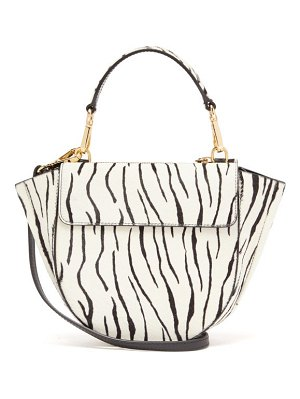 WANDLER hortensia mini zebra calf hair cross body bag