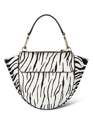 WANDLER Hortensia Mini Zebra Top Handle Bag