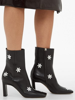 WANDLER isa flower embellished leather ankle boots