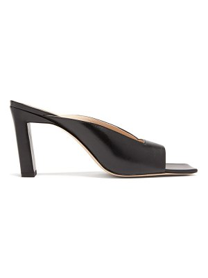 WANDLER isa square open-toe leather mules