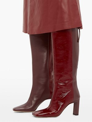 WANDLER isa two-tone square-toe leather boots