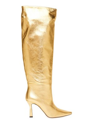 WANDLER lina point-toe knee-high leather boots