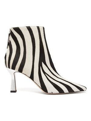 WANDLER lina zebra patterned calf hair ankle boots
