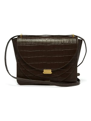 WANDLER luna crocodile effect leather cross body bag