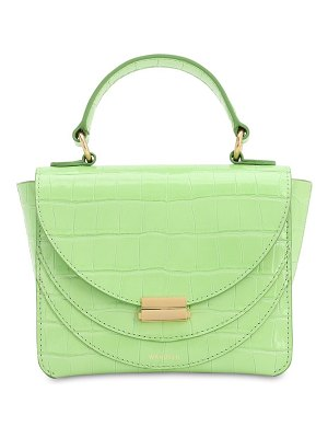 WANDLER Luna mini croc embossed leather  bag