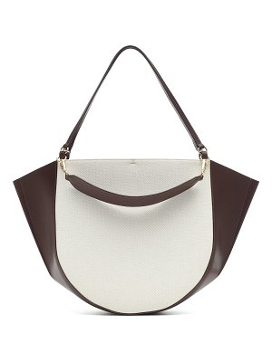 WANDLER Mia canvas and leather tote