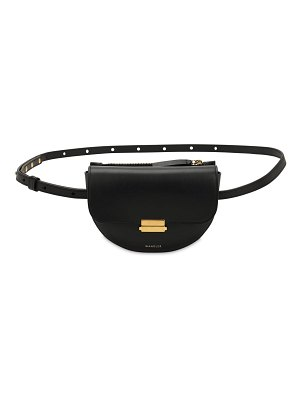 WANDLER Small anna smooth leather belt bag