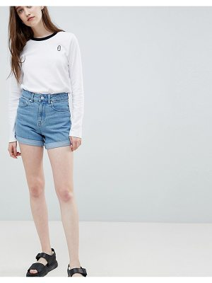 Waven Inga High Rise Mom Denim Shorts