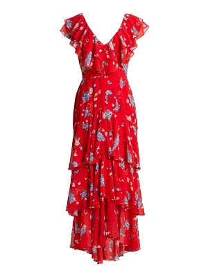 Wayf chelsea tiered ruffle floral printed dress
