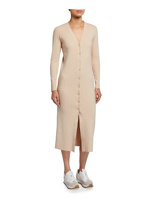 Wayf Petra V-Neck Cardigan Dress