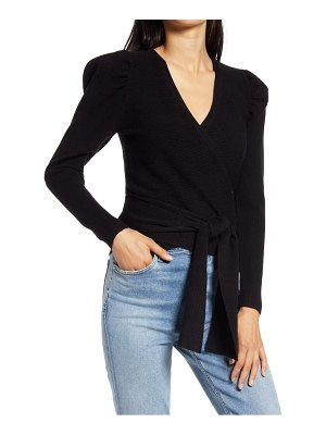 Wayf pippa puff sleeve wrap top