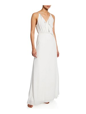 Wayf The Jamie Lace-Up Maxi Dress