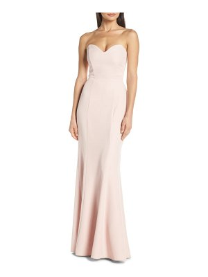 Wayf the mia lace-up back evening dress