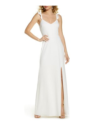 Wayf the mina ruffle strap gown