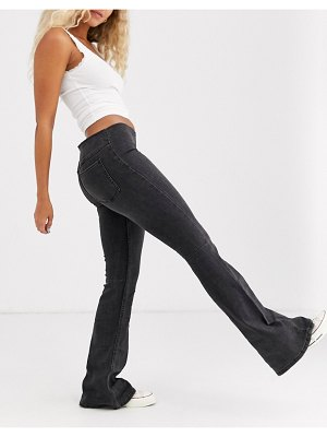 We The Free by Free People penny pull on flared jeans-black