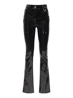 WE11 DONE Faux patent leather straight leg pants