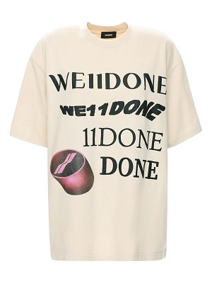 WE11 DONE Logo print cotton t-shirt