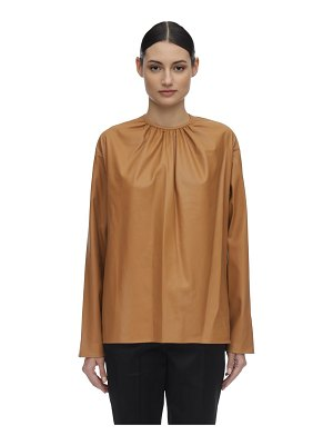 WE11 DONE Shirring faux leather shirt