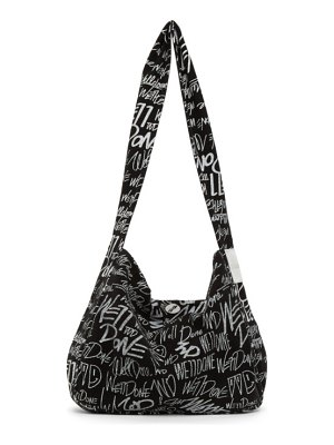 We11Done and white canvas logo bag
