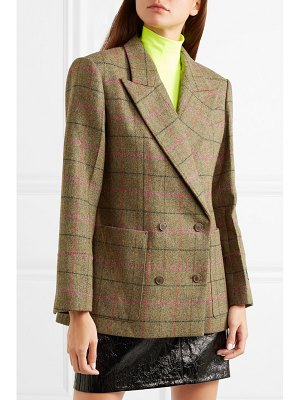We11Done checked wool blazer