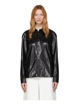 We11Done croc faux-leather shirt