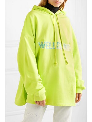 We11Done oversized printed cotton-jersey hoodie