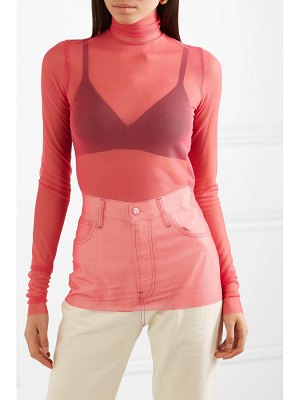 We11Done stretch-mesh turtleneck top