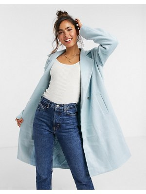 Wednesday's Girl tailored coat in pastel-blue