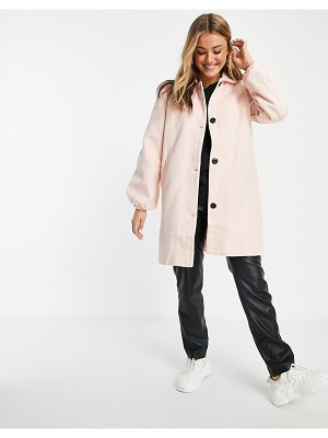 Wednesday's Girl tailored coat in pastel-pink