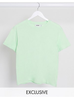 Weekday alanis organic cotton round neck tee in mint green