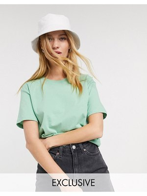 Weekday alanis organic cotton round neck tee in sea green
